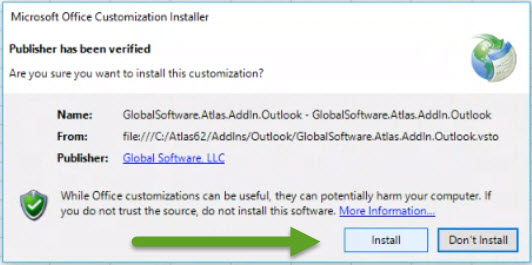 Error loading Atlas Ribbon - Exception Test - Click once